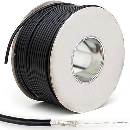 100 m negro Cable coaxial RG174U – ccs- antena SMA/TNC antena WIFI Router