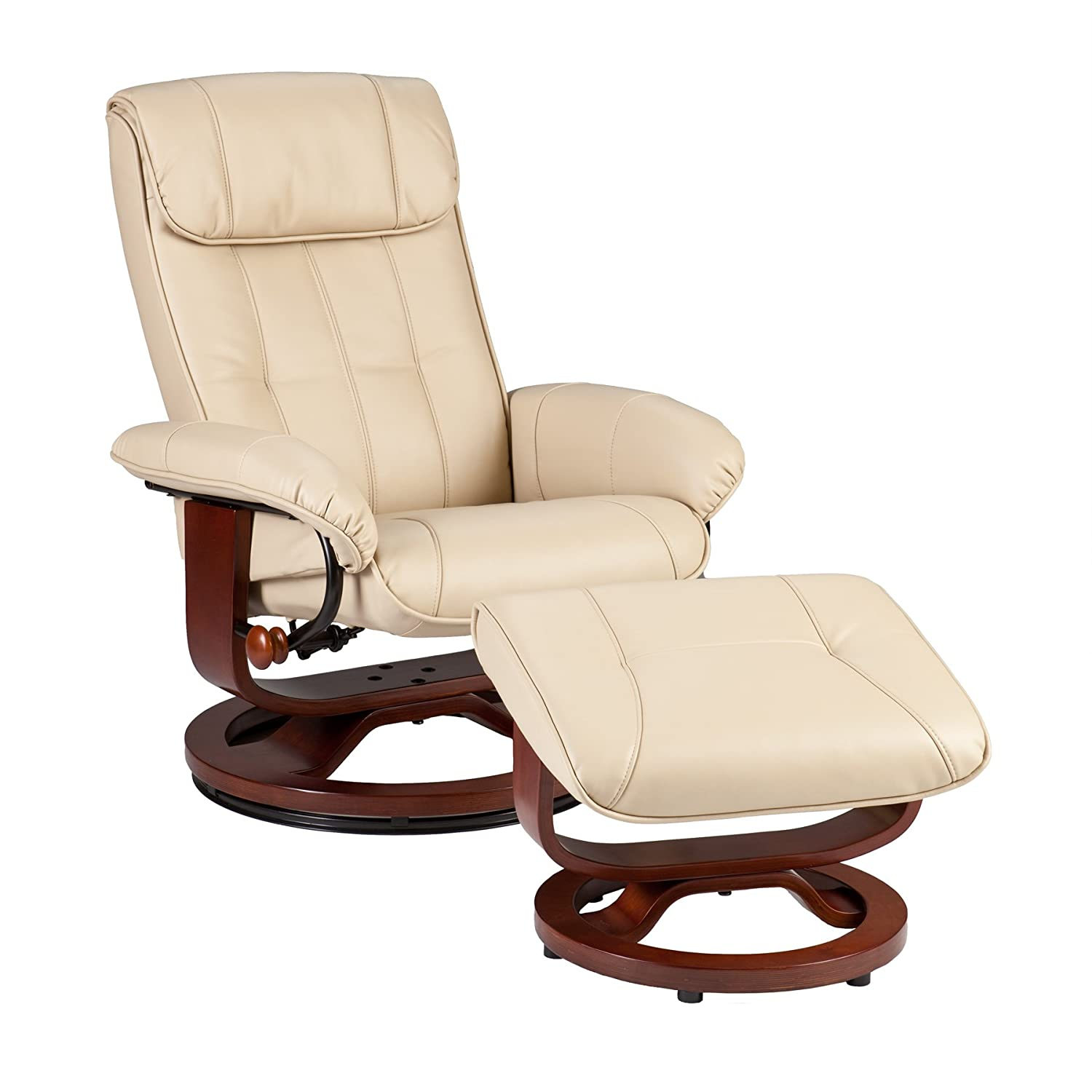 Amazon.com: SEI U-Base Donavan Recliner and Ottoman, Taupe ...