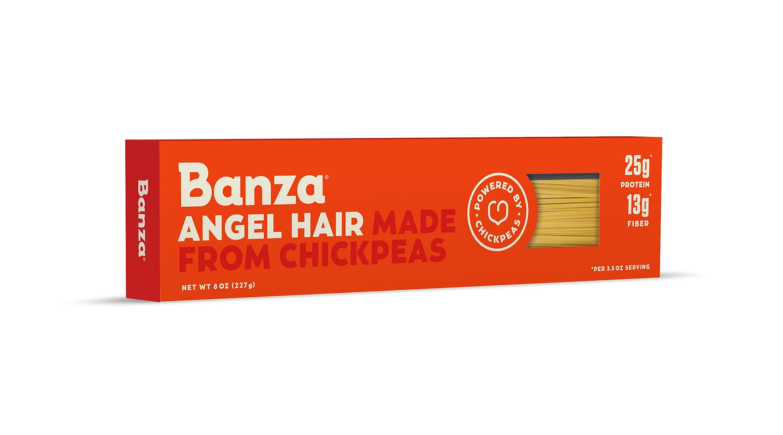 Banza Chickpea Pasta, Angel Hair (Pack of 6)