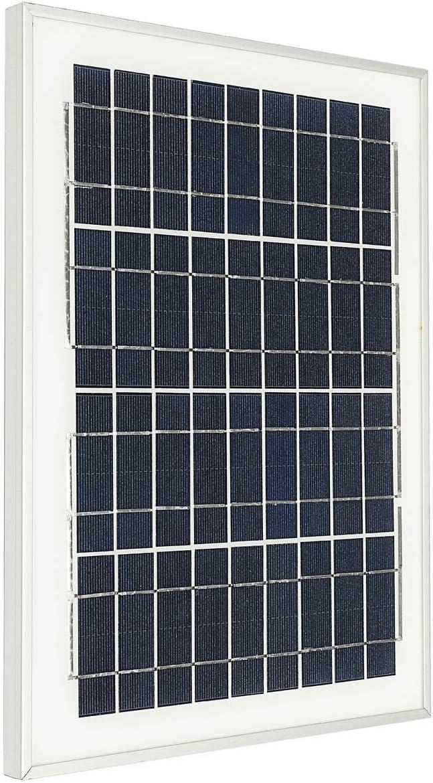 Accesorios 18V 10W Panel Solar Hilo de cocodrilo for Fuente al Aire Libre Estanque Piscina Jardín Bomba de Agua Sumergible