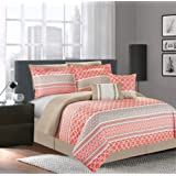 Amazon Price History for:Luxury Home 7-Piece Central Park Coral Comforter Set, Queen, Central Park Coral