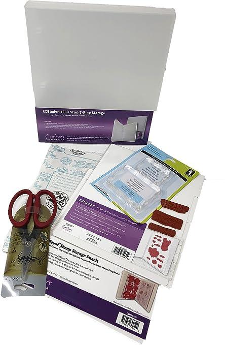 Rubber Stamp Storage Binder Mounting Supplies Kit