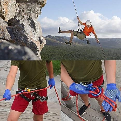 hjra Kletterseil 1m Sicherheitsseil Bergseil Polyester Tragegewicht 2000kg CE Zertifiziert f/ür Outdoor /Überleben Wanderung Bergsteigen 9.8mm10.5mm11mm