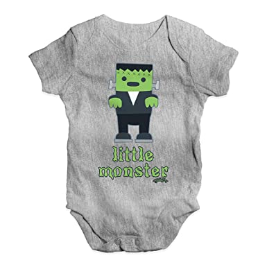 ef93b409f Amazon.com  TWISTED ENVY Little Monster Baby Unisex Funny Baby Grow ...