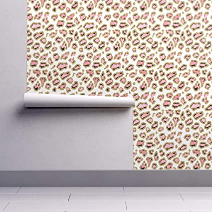 Peel And Stick Removable Wallpaper Pink And Gold Glitter