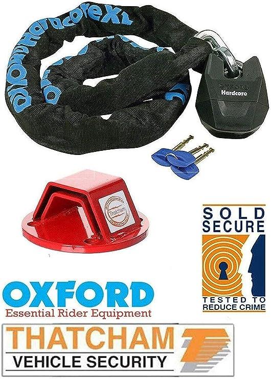 Oxford XL - Candado de cadena para motocicleta (1,5 m, incluye ...