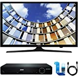 "Samsung UN40M5300 Flat 40"" LED 1920x1080p 5 Series Smart TV (2017 Model) w/ HDMI DVD Player Bundle Includes, HDMI 1080p High Definition DVD Player, 6ft High Speed HDMI Cable and LED TV Screen Cleaner"