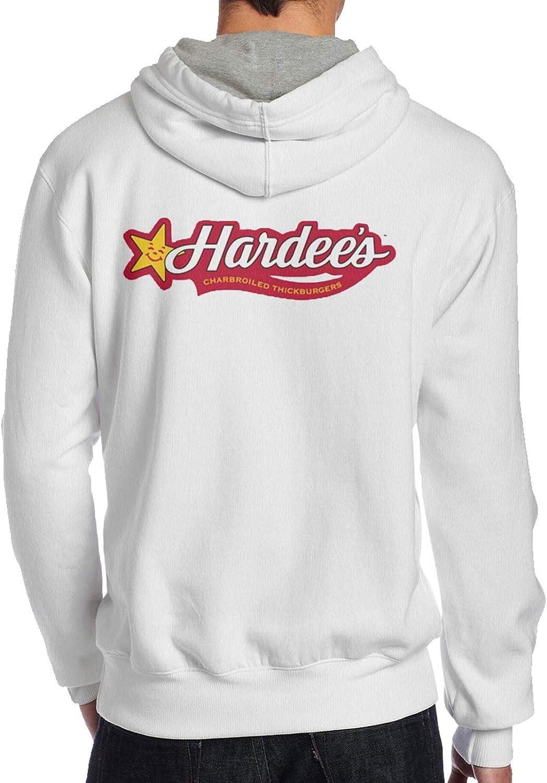 Lwjki Men'S Fashion Hardees Fast Food Logo Sweater Black