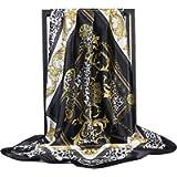 K-ELewon 35' Large Women's Satin Square Silk Feeling Hair Scarf Wrap Headscarf