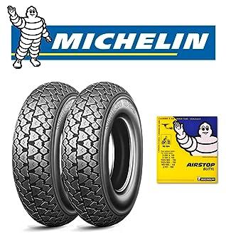 Par 2 neumáticos Michelin S83 (3.00 - 10 42J con 2 Cámaras de aire Michelin para Vespa 50 Pk Xl: Amazon.es: Coche y moto