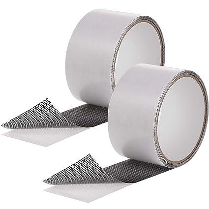 2 Piezas de Cinta Adhesiva de Reparación de Pantalla Cinta de Malla de Paño de Puerta