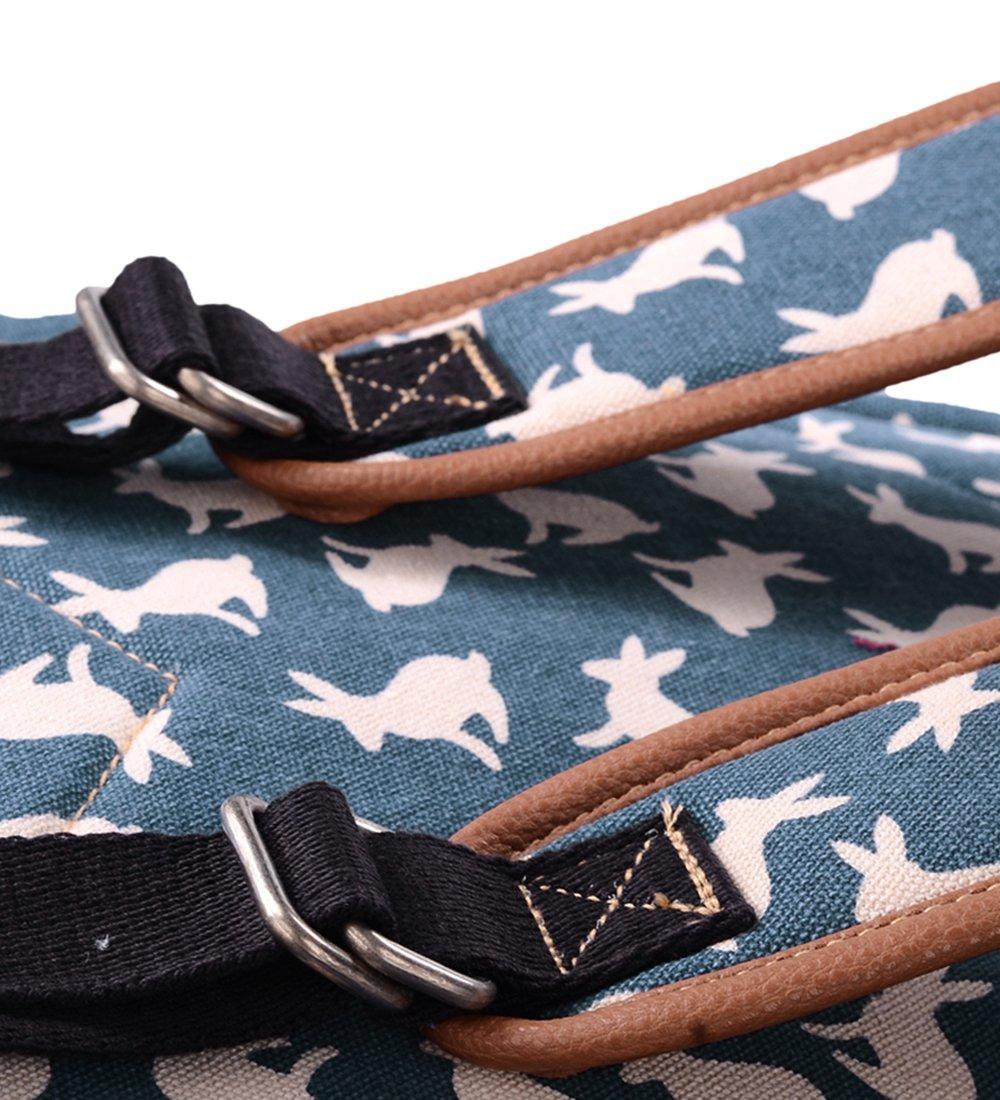 Bleu lappin Voyages GZ00133 Gezu Mode imprim/é Vintage Sacoche En Toile Pour Femme Sac /à Dos Loisir Sac /à Dos Pour /école Sport