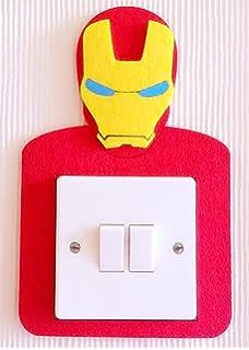 a6e1b138b4 Super Cool 3D Superheroes Light Switch Wall Stickers, Marvel Avengers, Iron  Man,…