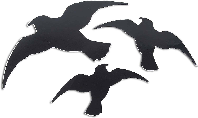 Windhager Vogel Silhouetten Vogelaufkleber Fensterschutz Vogel Aufkleber Gegen Vogelschlag Schützt Vögel Vor Transparenten Großflächen Vogelschreck Aufkleber 3 Stück 07116 Garten