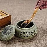 UTENEW 3 Pieces Wooden Loose Tea Scoops, Natural