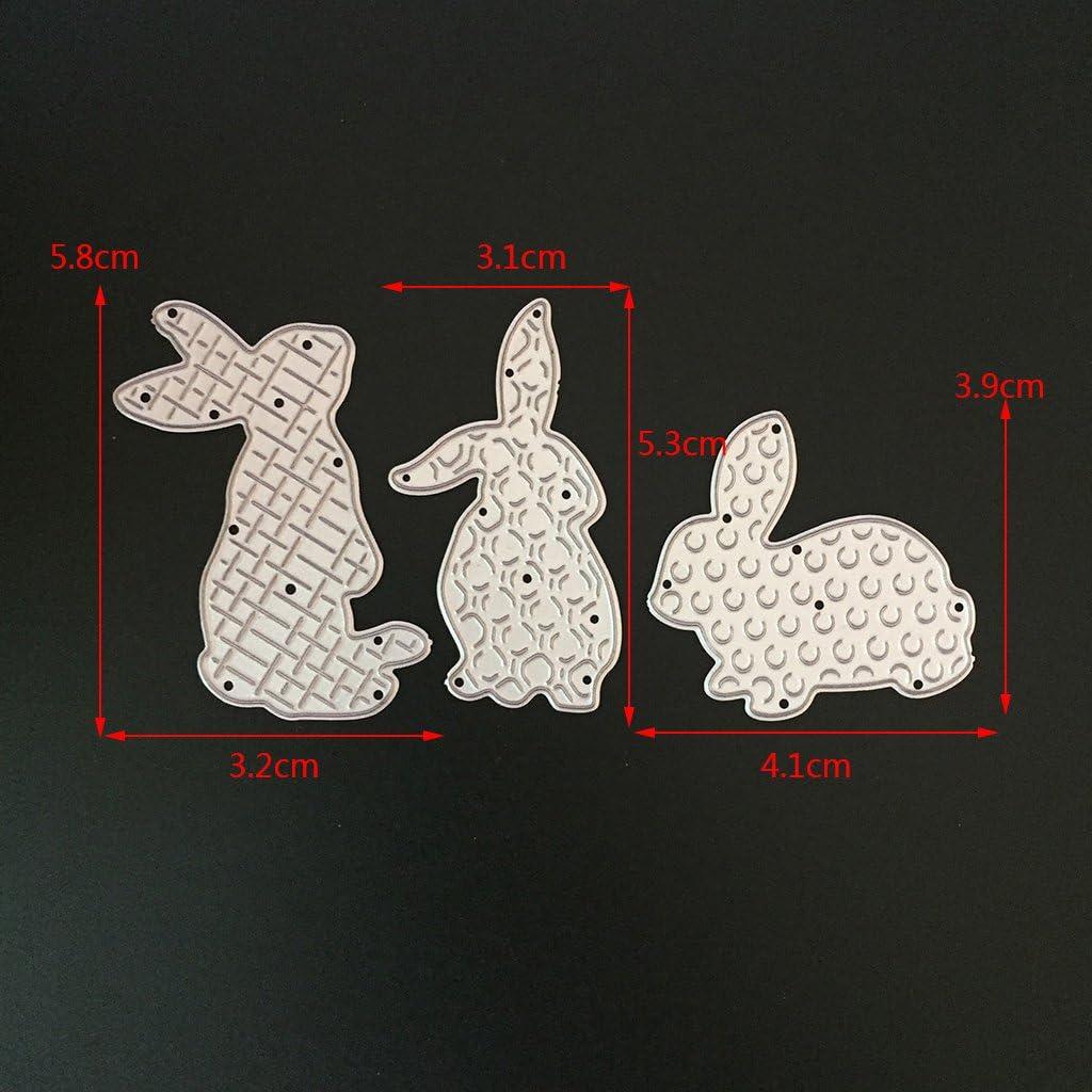 Coosky/® 3/Lapin en m/étal de coupe Dies Pochoirs DIY Album de scrapbooking dembossage carte Craft D/écoration