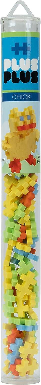 PLUS PLUS – Mini Maker Tube – Easter Chick – 70 Piece, Construction Building STEM   STEAM Toy, Interlocking Mini Puzzle Blocks for Kids