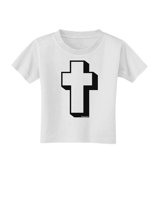 TooLoud Simple Cross Design Black Toddler T-Shirt