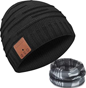 Bluetooth Beanie Hat Headphones Caps Novelty Headwear Gifts for Men/Dad/Women