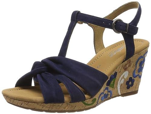 Gabor Comfort Sport Sandaletten in Übergrößen Blau 22.828.36 große Damenschuhe
