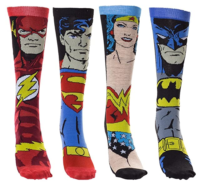 Justice League Boxed Socks Set - 4 Pack