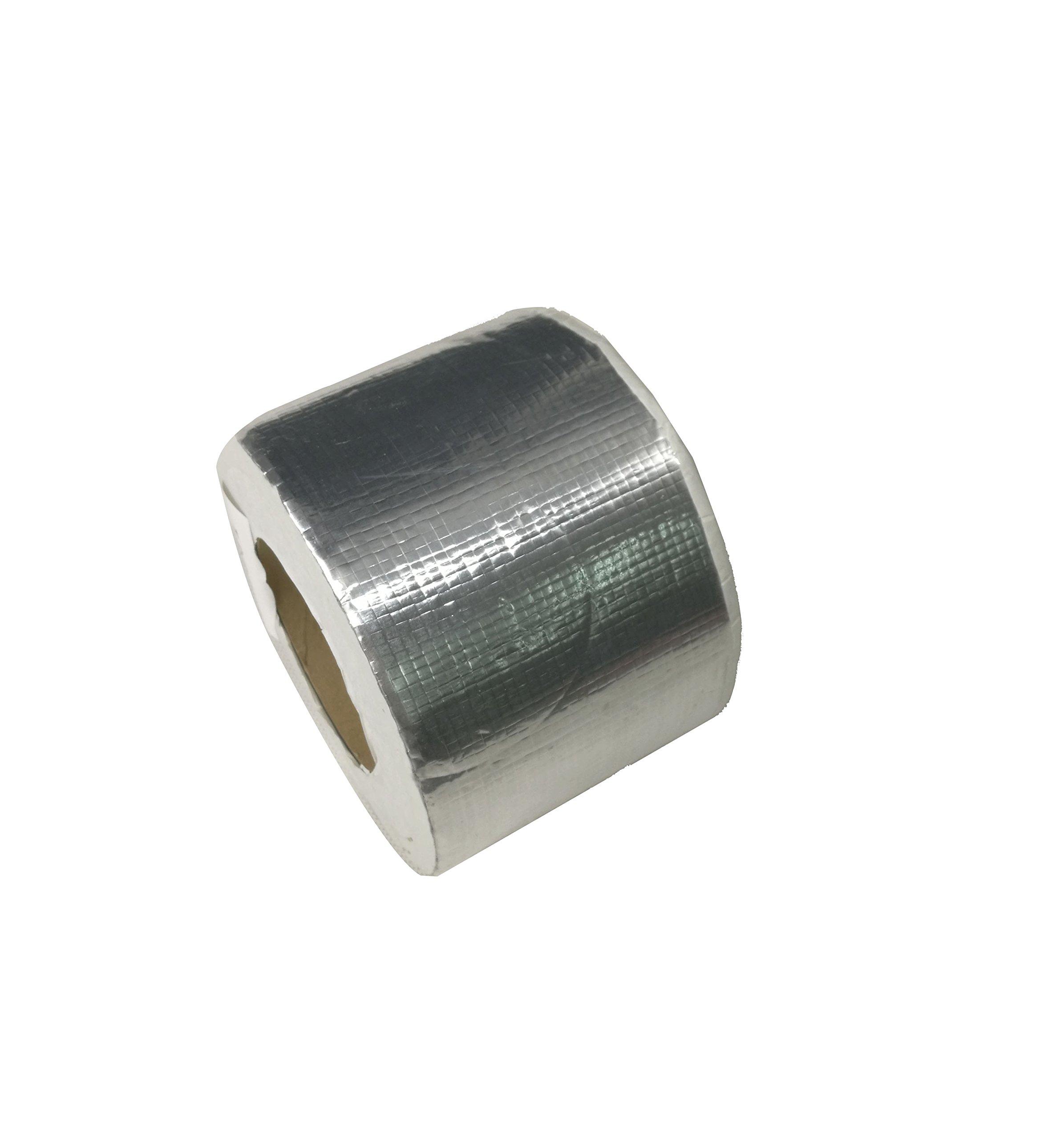 FixtureDisplays Butyl Seal Tape, RV Roof Repair Tape Marine Rubber Seal Tape Covered with Aluminium Foil (4'' Width x 32.8' Length) 15301-NPF
