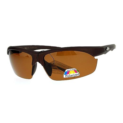 be61679bb928 Amazon.com: Xloop Polarized Baseball Half Rim Mens Sport Sunglasses ...