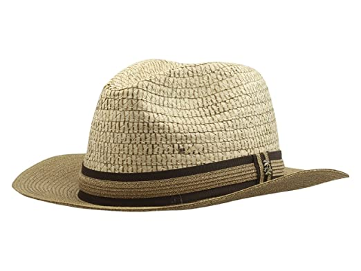 b5c5d30317d9d Tommy Bahama Men s Buri and Paper Braid Safari Hat at Amazon Men s Clothing  store