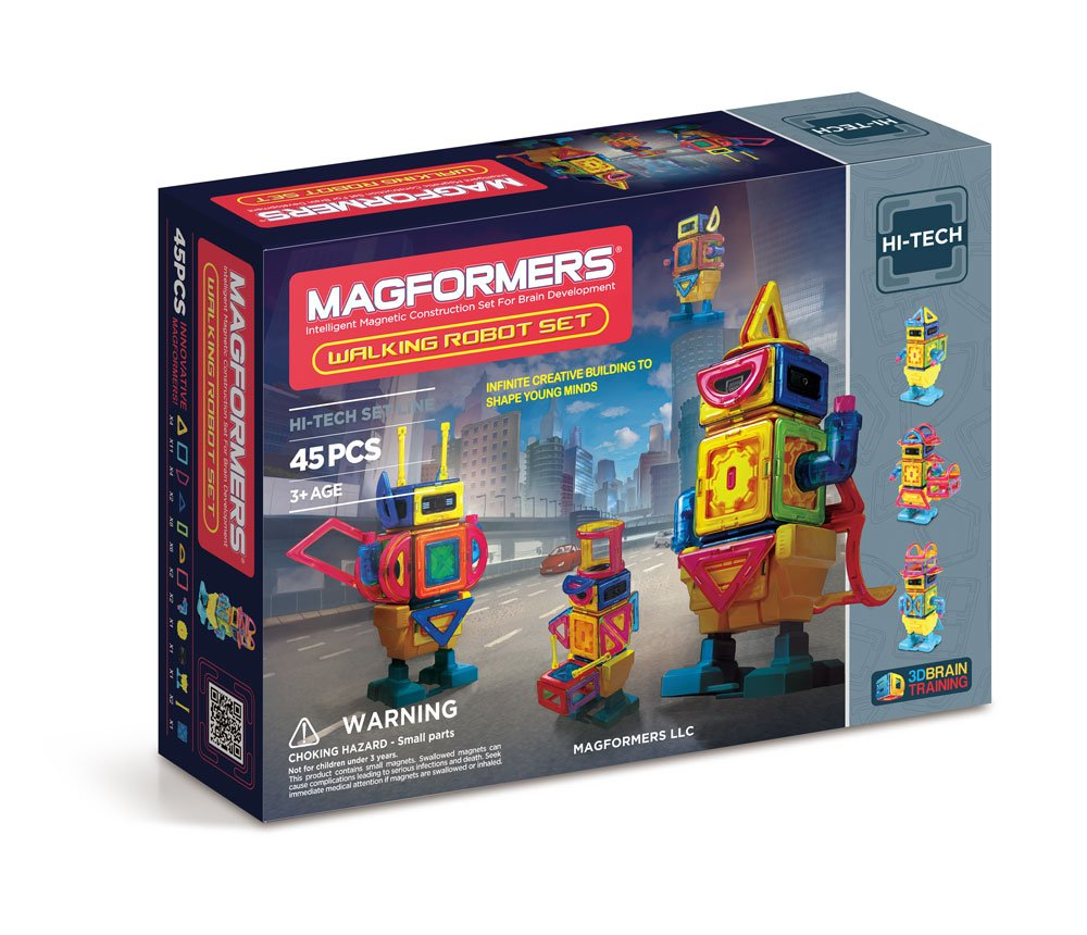 $57.99( was $144.99) Magformers Hi-Tech Walking Robot Set (45-Pieces)
