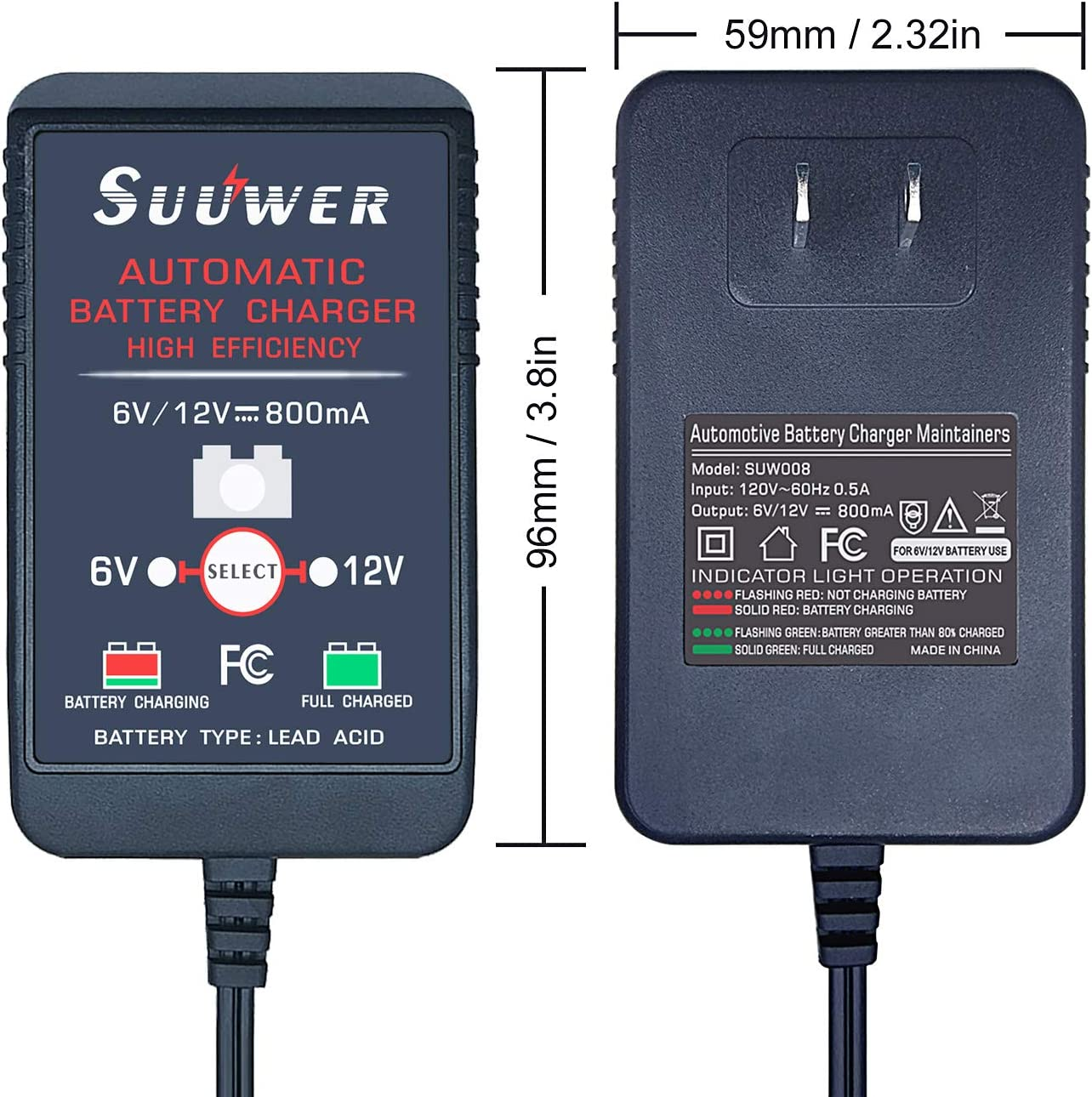 iPad iPod GPS Suuwer Motorcycle USB Charger 5V 4.8A SAE to Dual USB Adapter for Charging Your iPhone Camera or any Smartphone