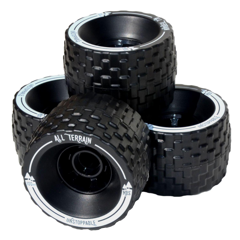MBS 13401 - Black All-Terrain Longboard Wheels - 100mm X 65mm - Black by MBS