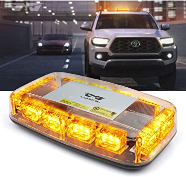 Rooftop Light Bar LED Strobe Emergency Beacon Auto Trucks Warn Amber Yellow 30/""