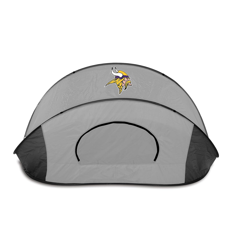 Black//Gray Picnic Time 113-00-105-184-2 NFL Minnesota Vikings Manta Portable Pop-Up Sun//Wind Shelter