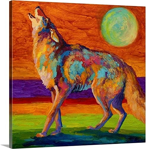 Coyote Canvas Wall Art Print