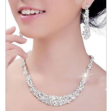 Amazoncom Ikevan 2017 Hot Selling Necklace Women Crystal Bridal