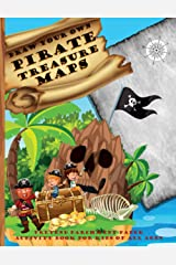 "Draw Your Own Pirate Treasure Maps - pretend parchment paper activity book for kids of all ages: 50 blank ""old"" pages printed with a compass, ideal for young pirates Paperback"