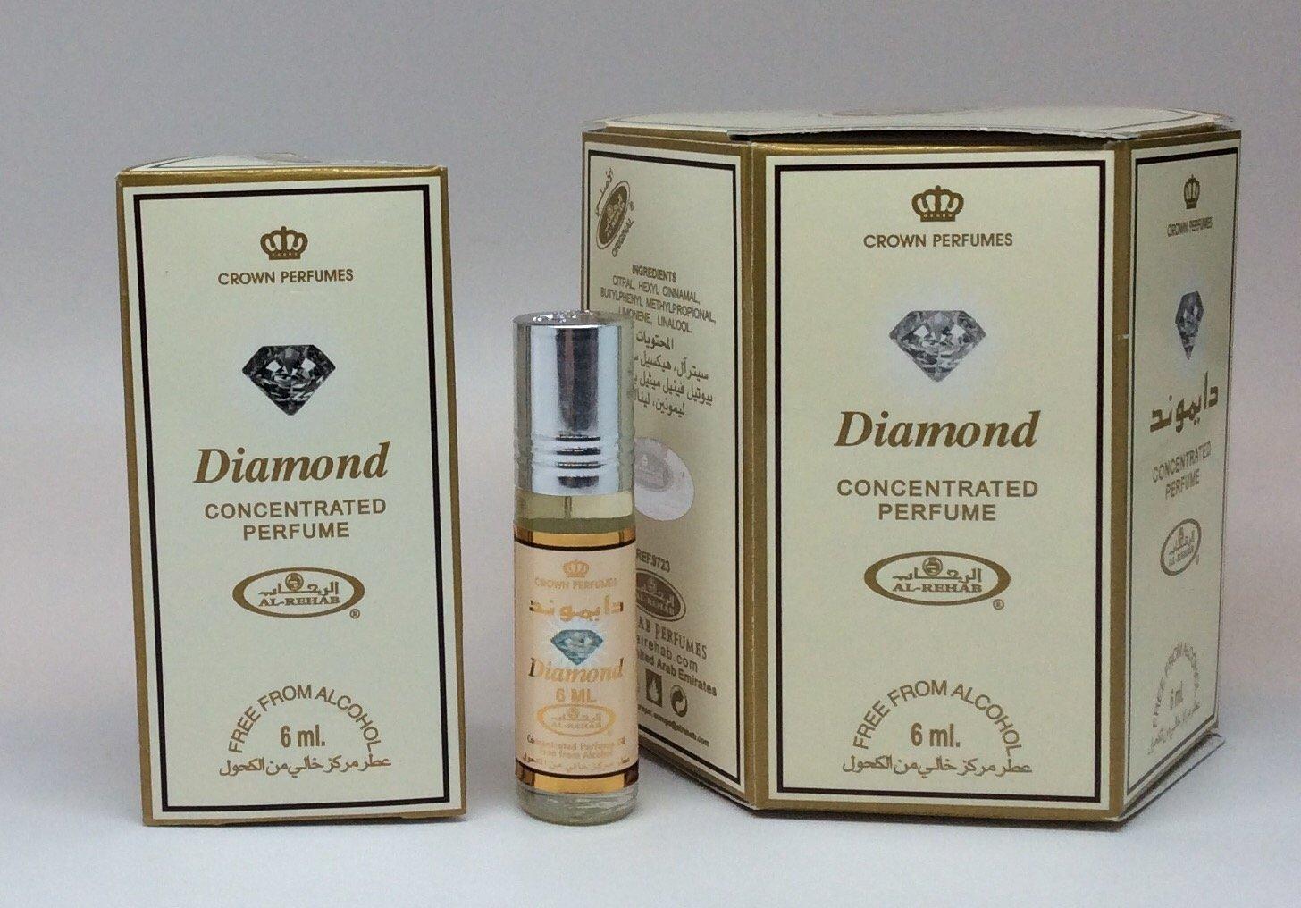 87fd40678 Amazon.com: Diamond - 6ml (.2oz) Roll-on Perfume Oil by AlRehab - 24 pack:  Health & Personal Care