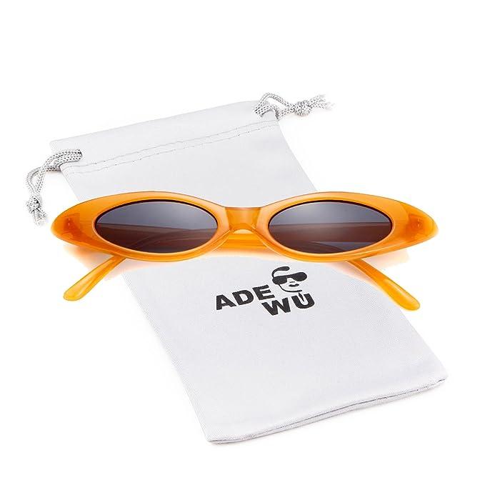 ADEWU Occhiali da sole da donna, piccoli occhiali ovali
