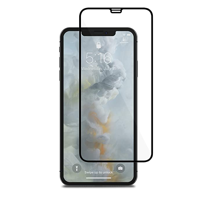 new styles 01735 71d76 Moshi IonGlass Glass Screen Protector Compatible with iPhone Xs Max,  Atomically-strengthened, Stronger Than Tempered Glass, Exceptionally Thin