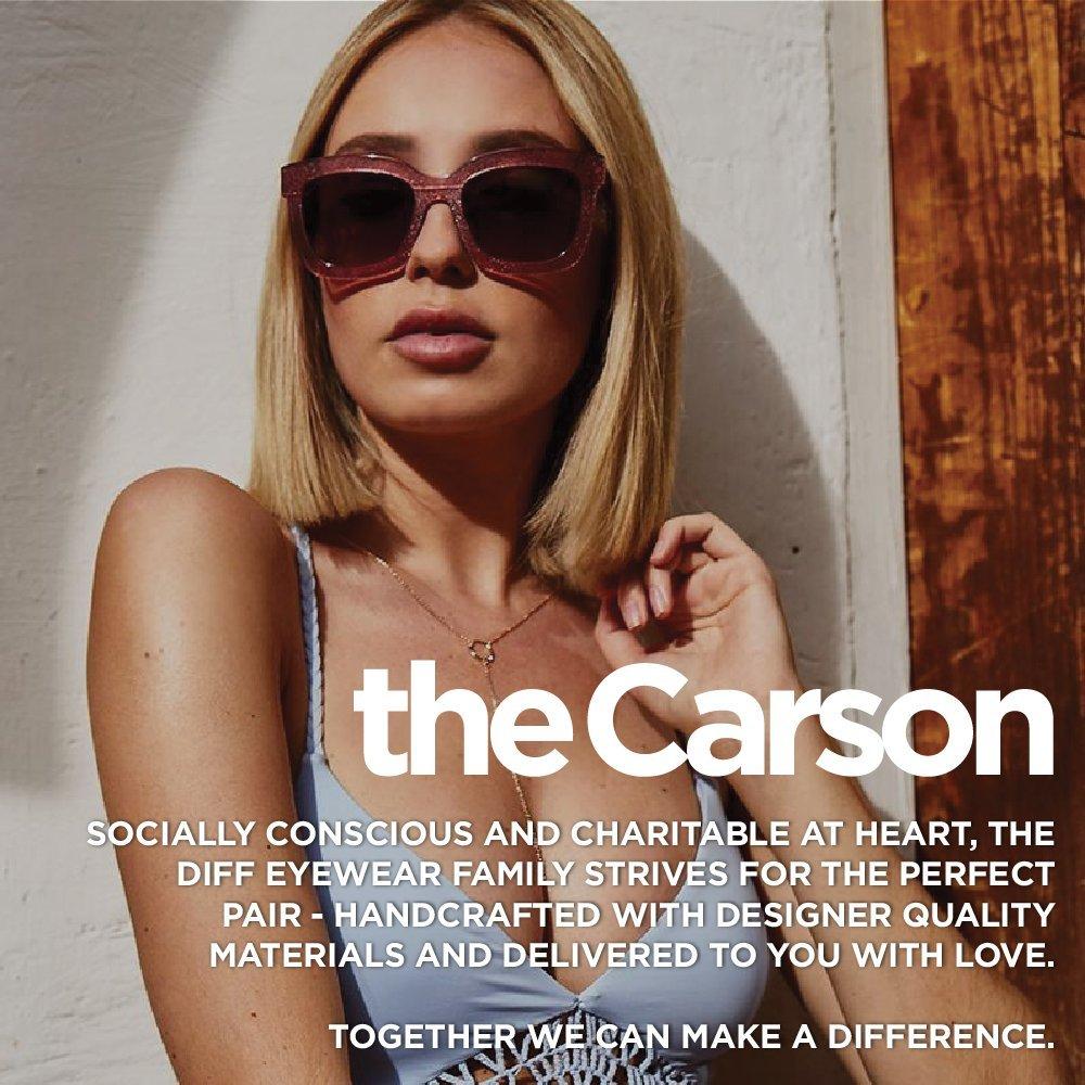 f9eceaf202c Amazon.com: Diff Eyewear: Carson - Designer Square Sunglasses - 100%  UVA/UVB: Clothing