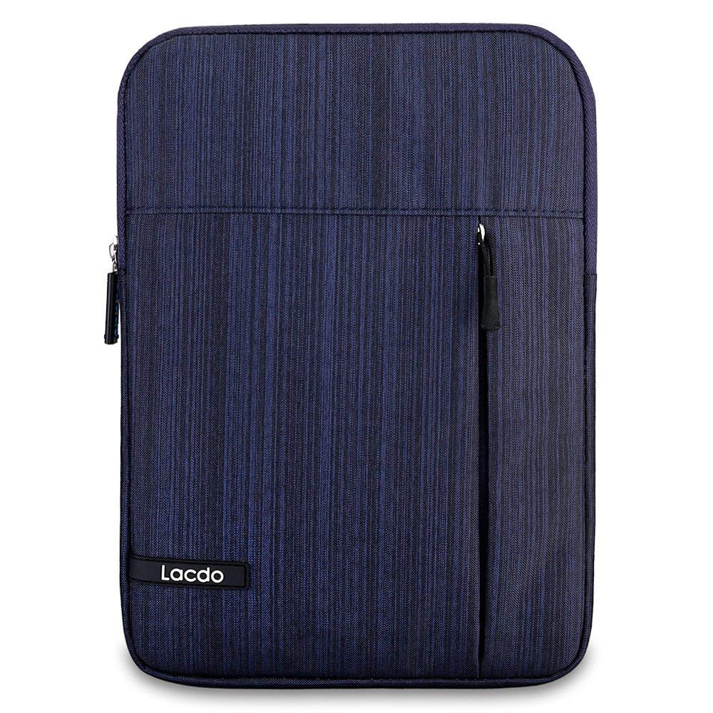 Lacdo Tablet Sleeve Case Compatible 11 inch New iPad Pro 2018 | 10.5 Inch iPad Pro | 9.7 inch New iPad | iPad Air 2 | iPad 4, 3, 2 | Samsung Galaxy Tab 10.1 Inch Protective Bag Water Repellent, Blue by Lacdo