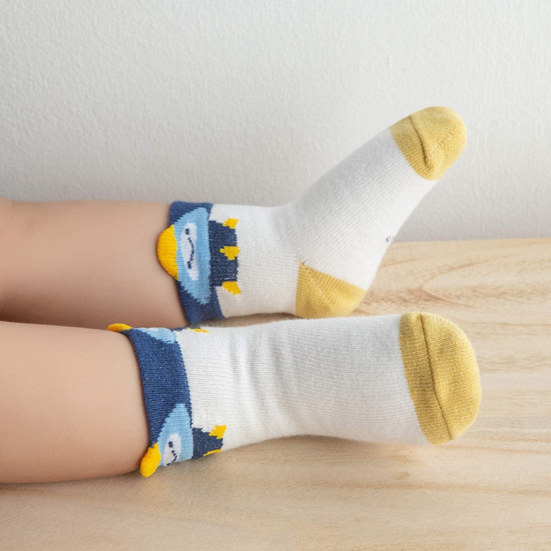 Adorel Jungen Socken Kn/öchelhoch Babysocken 10er-Pack