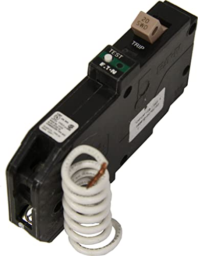 Eaton CHFCAF120 Breaker, 20A, 1P, 120 240V, 10 kAIC, Type CH, Combo AFCI, COLOR