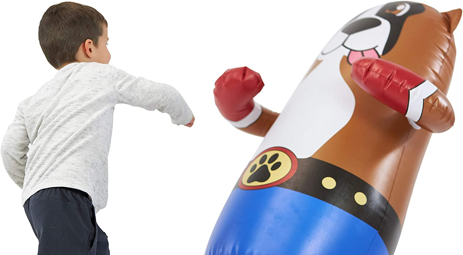 47inch Inflatable Punching Bag Kick Boxing Toy Wrestling Kids Sports Bop Child 1