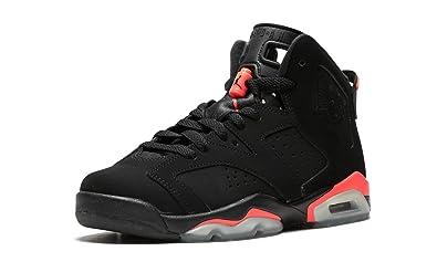 NIKE Air Jordan 6 Retro BG, Chaussures de Sport garçon - différents Coloris - Noir