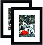 8x10 Picture Frame Black (2-pack) With GLASS FRONT