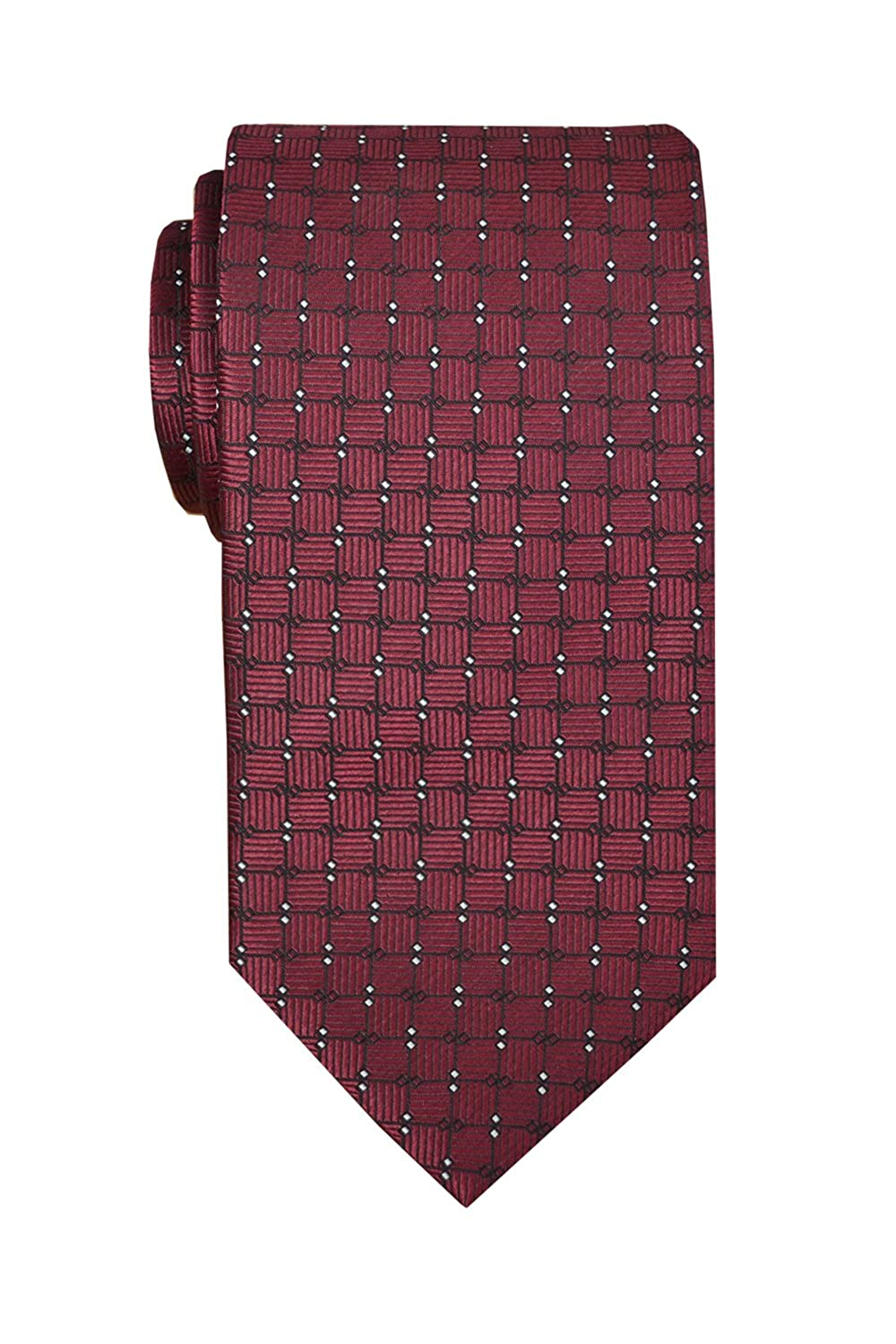 Silk 3,34 Width Remo Sartori Made in Italy Mens Burgundy Pattern Necktie