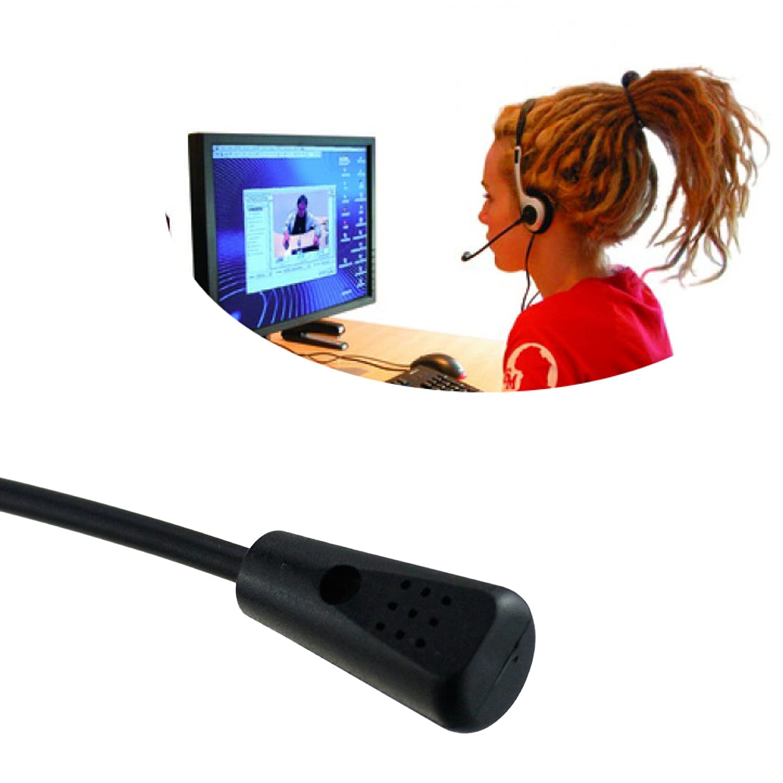 Headset Stereo Kopfh/örer schwarz PC Sprechgarnitur MSN Skype