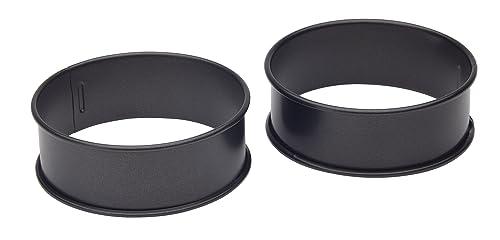 KitchenCraft Non-Stick Egg Poachette Rings / Crumpet Makers, 9 cm (Set of 2)
