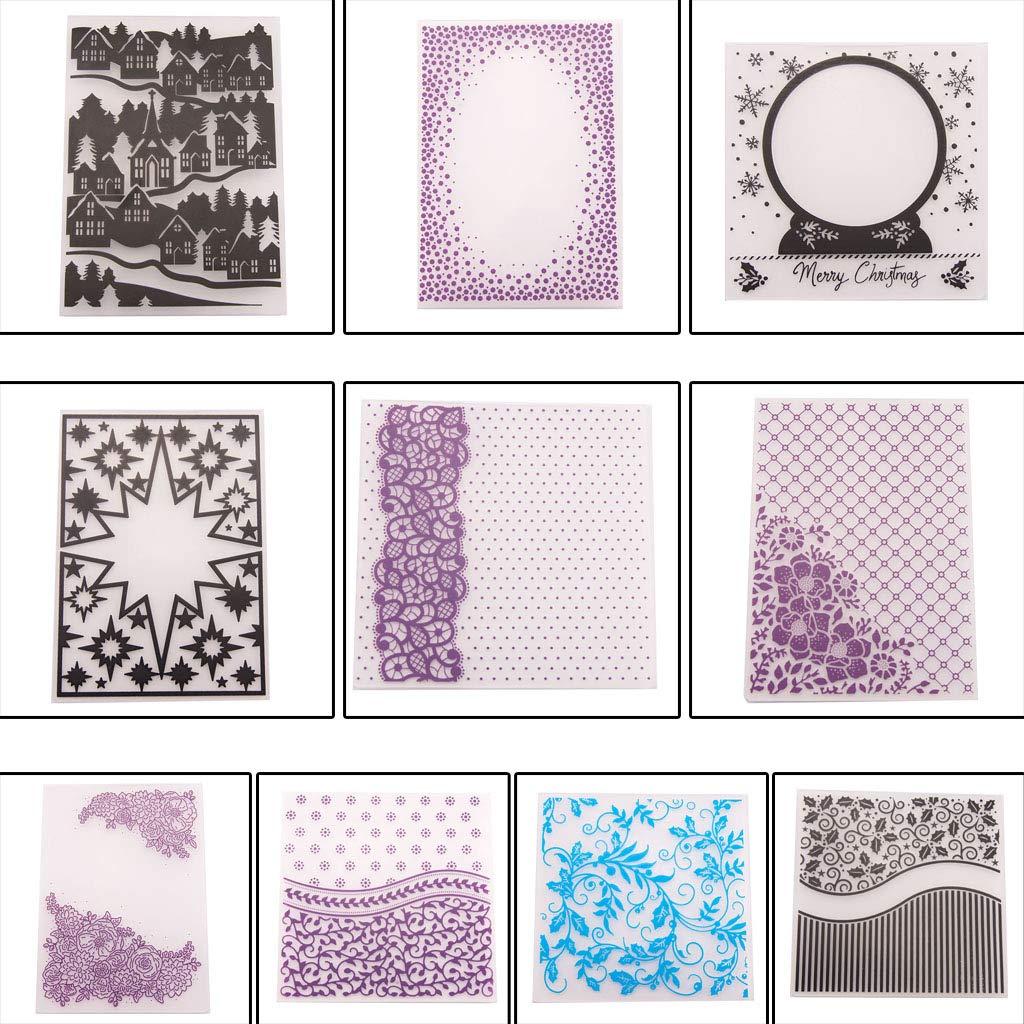 Shoresu Plastic Embossing Folder Stencils Template Molds DIY Scrapbooking Paper Photo Album Card Decoration Christmas Snowflake